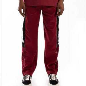 KAPPA BANDA 10 ARPAN RED BORDEAUX BLACK TRACKPANTS
